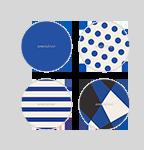 마이쿠션 케이스 - 블루 8종