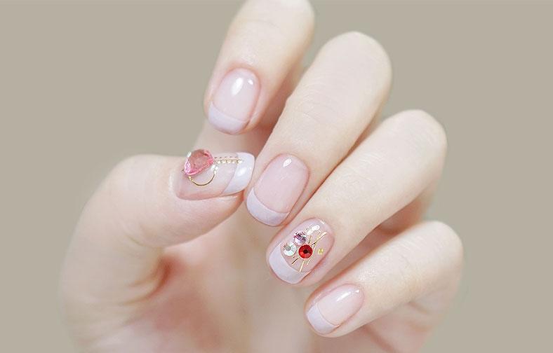 이니스프리-셀프 네일 스티커 [빅파츠]-3호 핑크 다이아