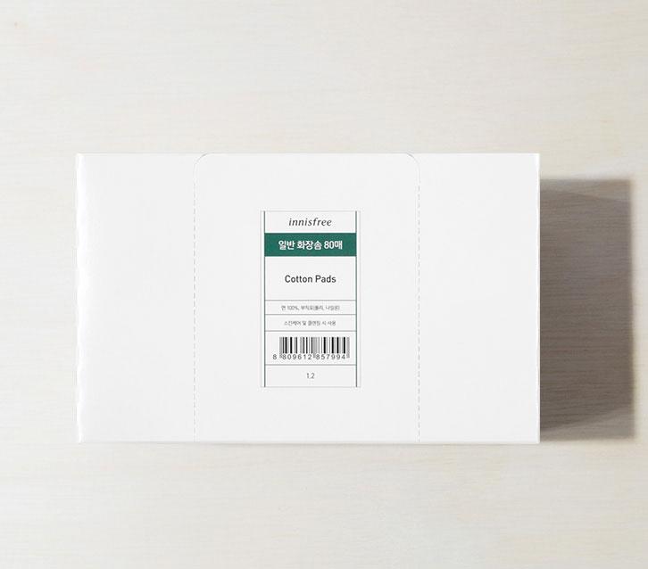 이니스프리-일반 화장솜 80매-순면으로 만들어진 부드러운 느낌의 다용도 화장솜