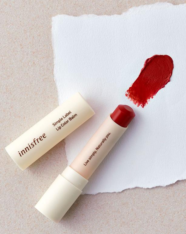 이니스프리-심플라벨 립 컬러 밤-자연유래 성분을 함유한 촉촉한 컬러 립밤