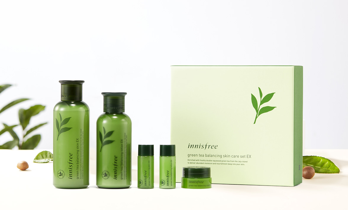 Innisfree Green Tea Balancing Skin Care Set Ex Free Shipping Ebay Special Kit 4 Items 200ml Lotion 160ml
