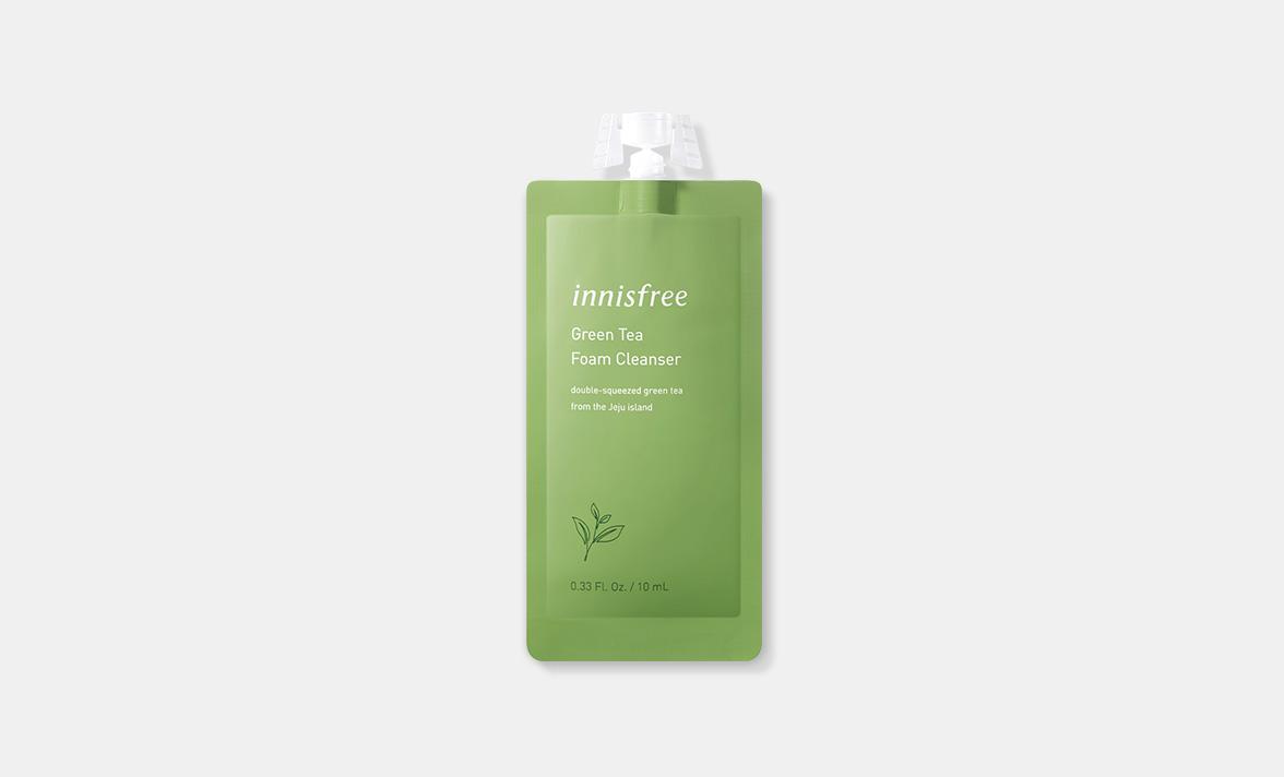 이니스프리 - 그린티 폼 클렌저 7DAYS 10mL - 풍성하고 부드러운 거품이 모공 속 노페물을 제거하고 피부를 촉촉하게 가꿔주는 수분 폼 클렌저