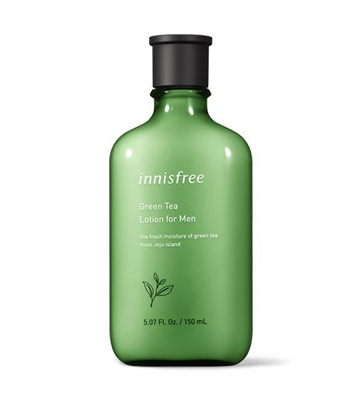 이니스프리-그린티 로션 포맨-제주 녹차의 맑은 수분 에너지로 피부를 촉촉하게 가꾸어주는 산뜻한 로션