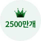 2500만개