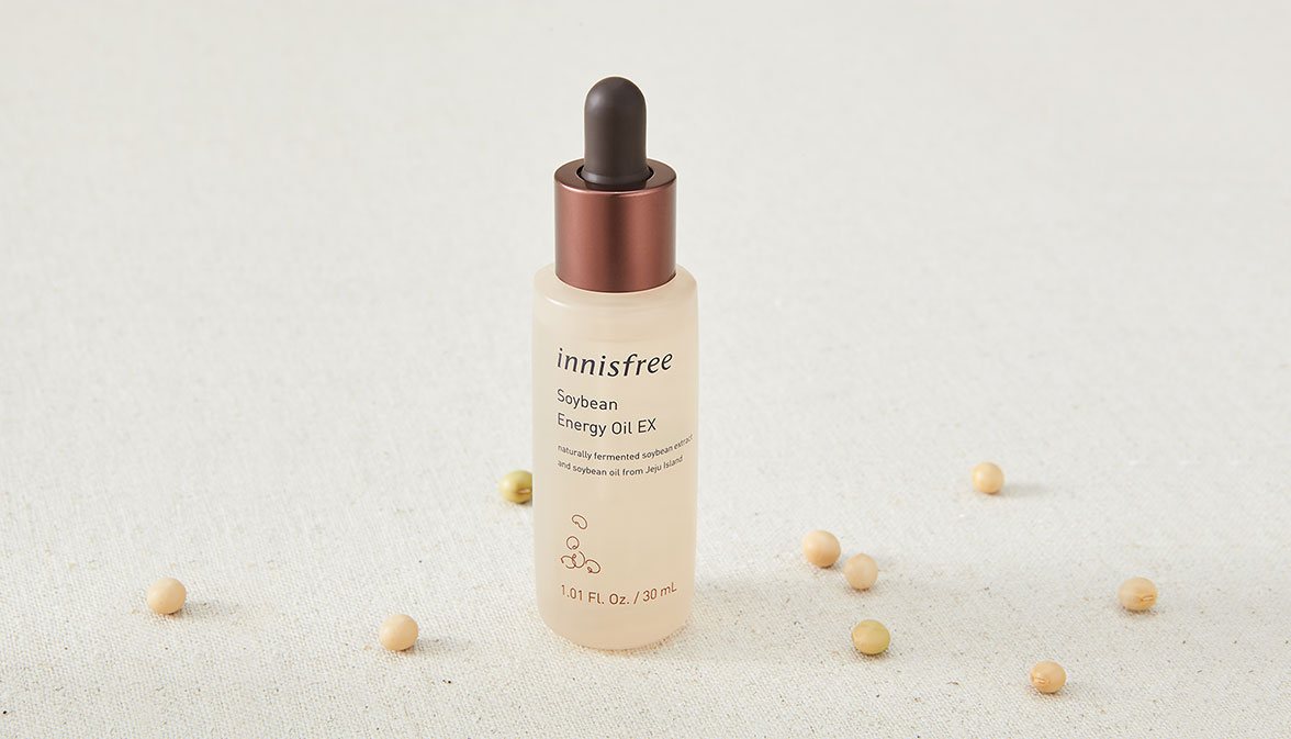 이니스프리 - 자연발효 에너지 오일 EX 30mL - 제주 콩 발효 오일이 함유되어 피부에 건강한 윤기를 채워주는 안티에이징 오일