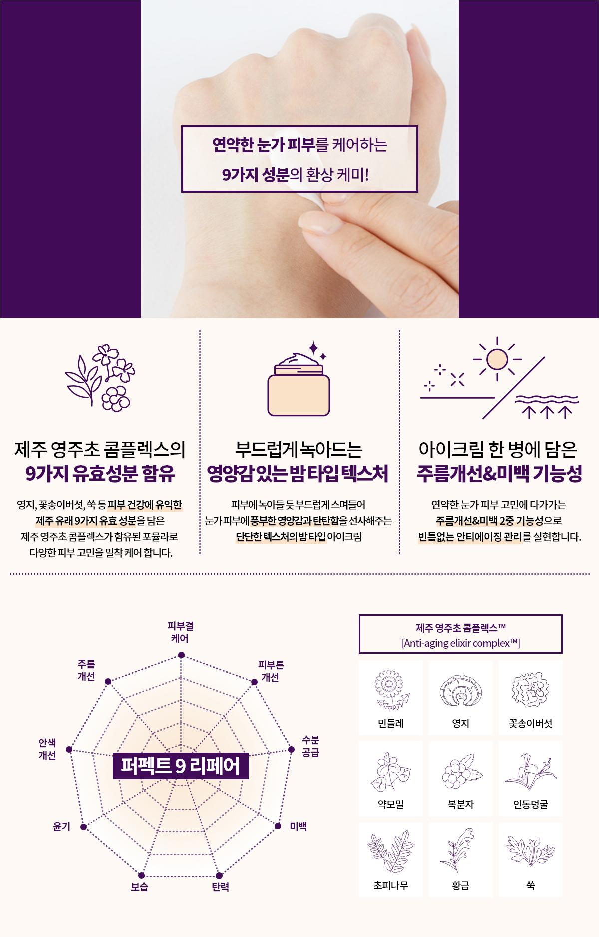 이니스프리 퍼펙트 9 리페어 아이크림 EX