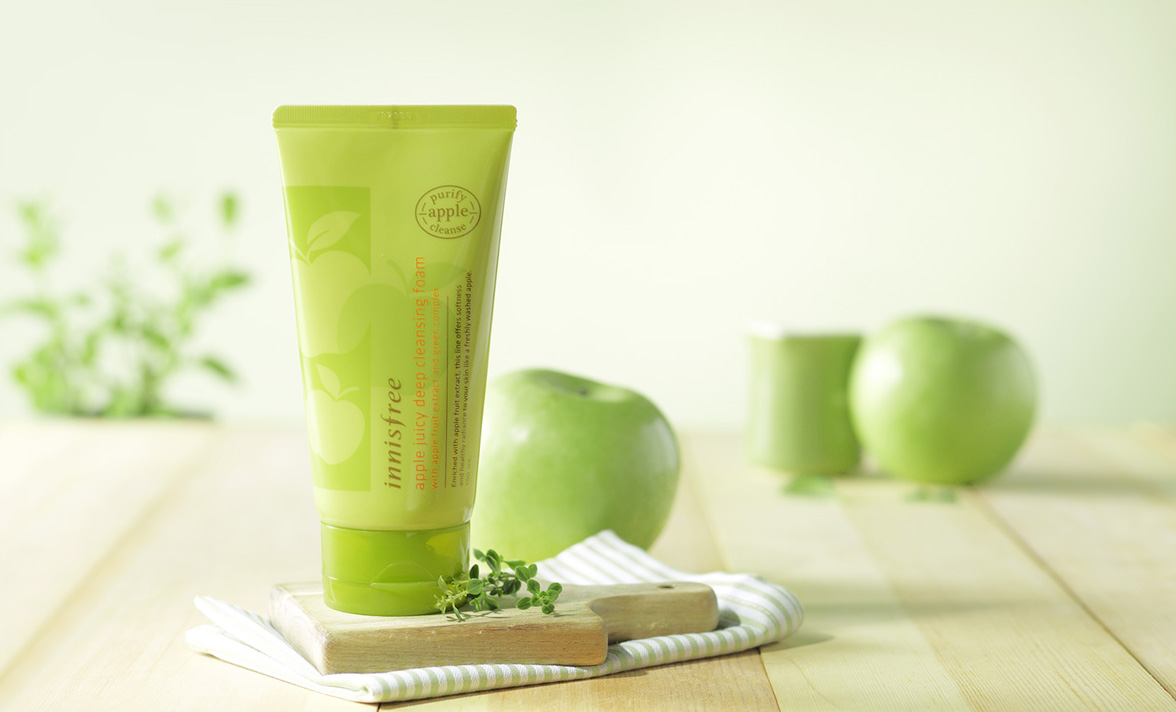 Innisfree - Apple juicy deep cleansing foam