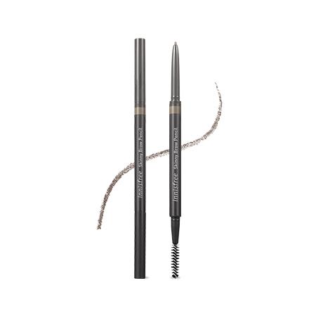 이니스프리 스키니 브로우 펜슬 0.08g - 얇은심, 눈썹결한올한올, 섬세하게눈썹그리기, 뭉침없는발림성