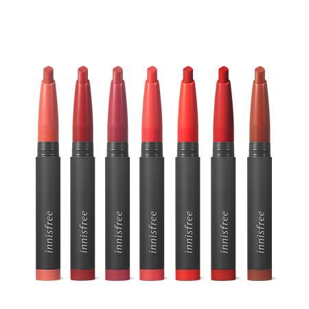 이니스프리 비비드 슬림핏 틴트 0.6g - 틴트지속력, 립스틱발색력, 매트립, 복숭아틴트, 입꼬리연출립