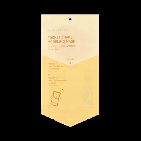 이니스프리 포켓 쉐이크 모델링 마스크 50mL  - 간편한모델링, 고무팩, 모델링팩, 30초완성, 홈케어