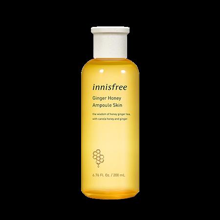 Innisfree Ginger Honey Ampoule Skin 200mL-Honey, honey layered skin, moisturizing, honey moisturizing