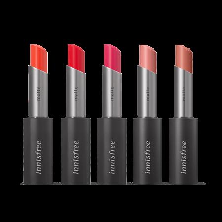 이니스프리 리얼핏 매트 립스틱 3.3g - 에어매트, 고발색, 비비드컬러, 신예은립스틱, 레드바이브