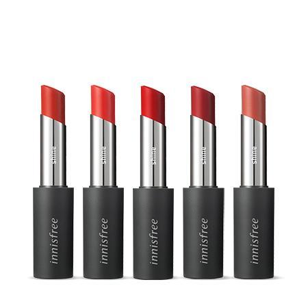 이니스프리 리얼핏 샤인 립스틱 3.3g - 촉촉립스틱, 유리알광택, 선명한컬러, 탱글입술, 초슬라이딩