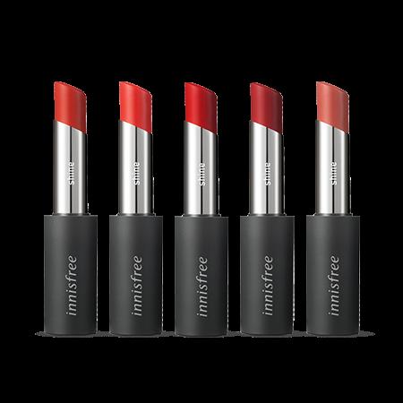 이니스프리 리얼핏 샤인 립스틱 3.3g - 촉촉립스틱, 유리알광택, 선명한컬러, 입술볼륨, 초슬라이딩