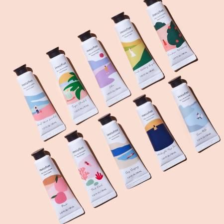 이니스프리 제주 라이프 퍼퓸드 핸드크림 30mL - 제주향핸드크림, 촉촉향긋, 빠른흡수, 잦은손씻기에도, 촉촉한손, 공병수거