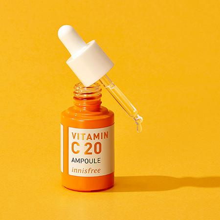 이니스프리 트루케어 비타민C 20 앰플 15mL - 잡티앰플, 효과앰플, 비타민앰플, 7일잡티개선, 안티에이징앰플
