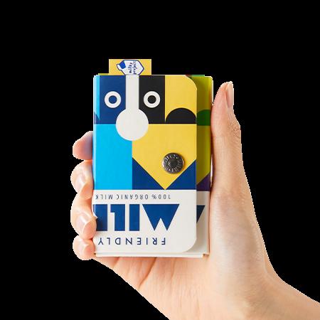이니스프리 밀키프로젝트 - 밀키카드집 - 밀키프로젝트, 진짜우유팩, 일상에코, 100%핸드메이드