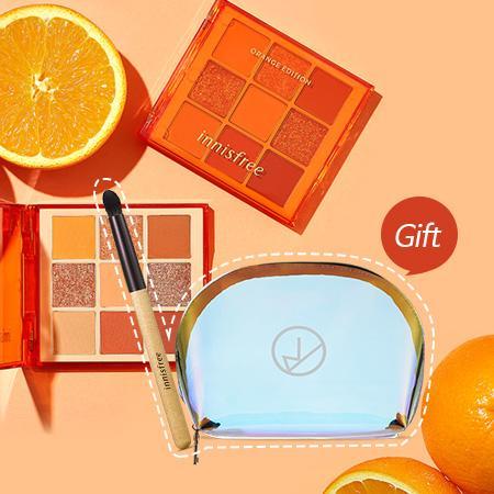 이니스프리 쥬시 오렌지 팔레트 기획세트 7.8g - 오렌지아이팔레트, 인간오렌지, 비타민충전, 오렌지무드, 과즙팔레트