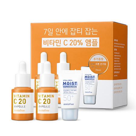 이니스프리 트루케어 비타민C 앰플 더블 기획 세트 15mL * 2개 - 잡티앰플, 효과앰플, 비타민앰플, 7일잡티개선, 안티에이징앰플, 공병수거