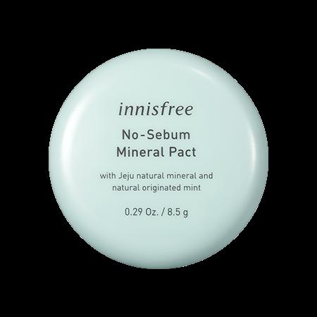 이니스프리 노세범 미네랄 팩트 8.5g - 기름종이팩트, 피지컨트롤, 개기름, 메이크업지속력, 지성피부